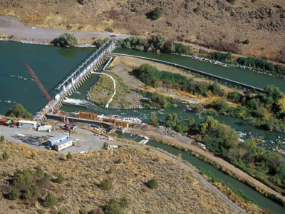 The Link River Dam is part of the Klamath Project.