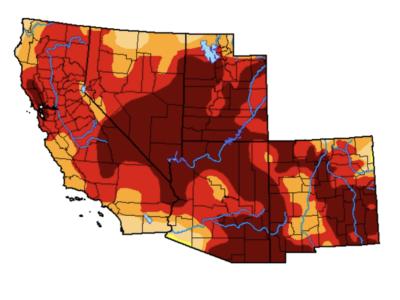 southwest drought map