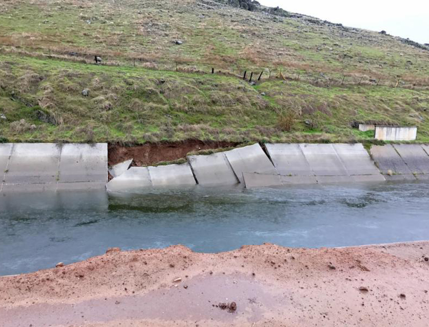 Friant-Kern Canal subsidence