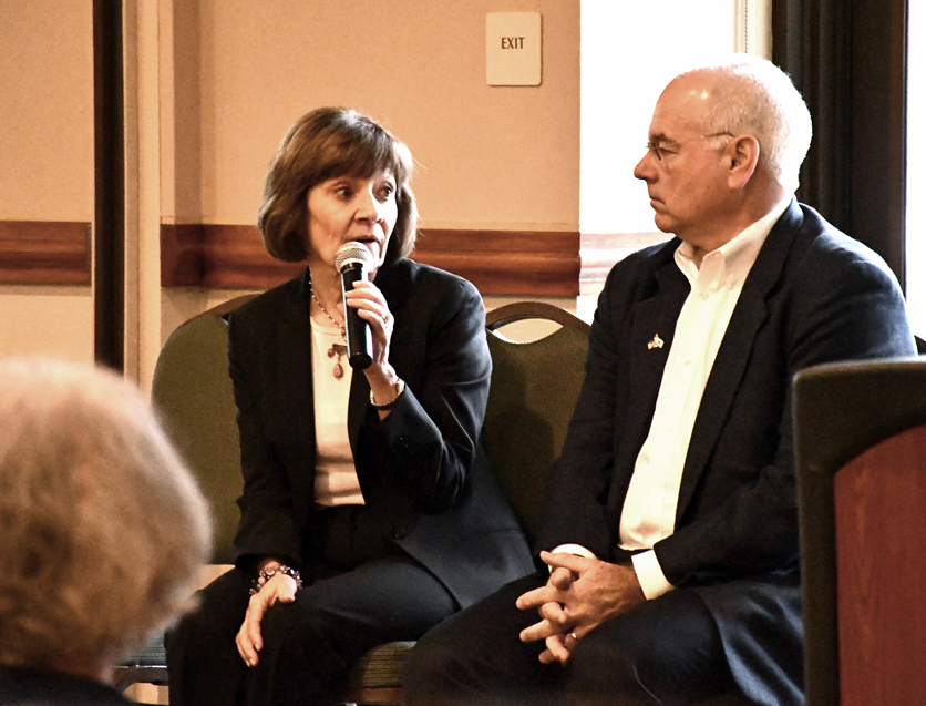 Karen Ross and Lenny Mendonca