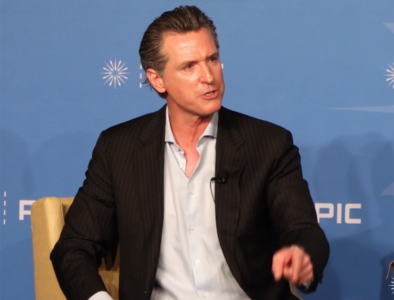 Gavin Newsom at PPIC event