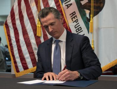 Newsom signing order