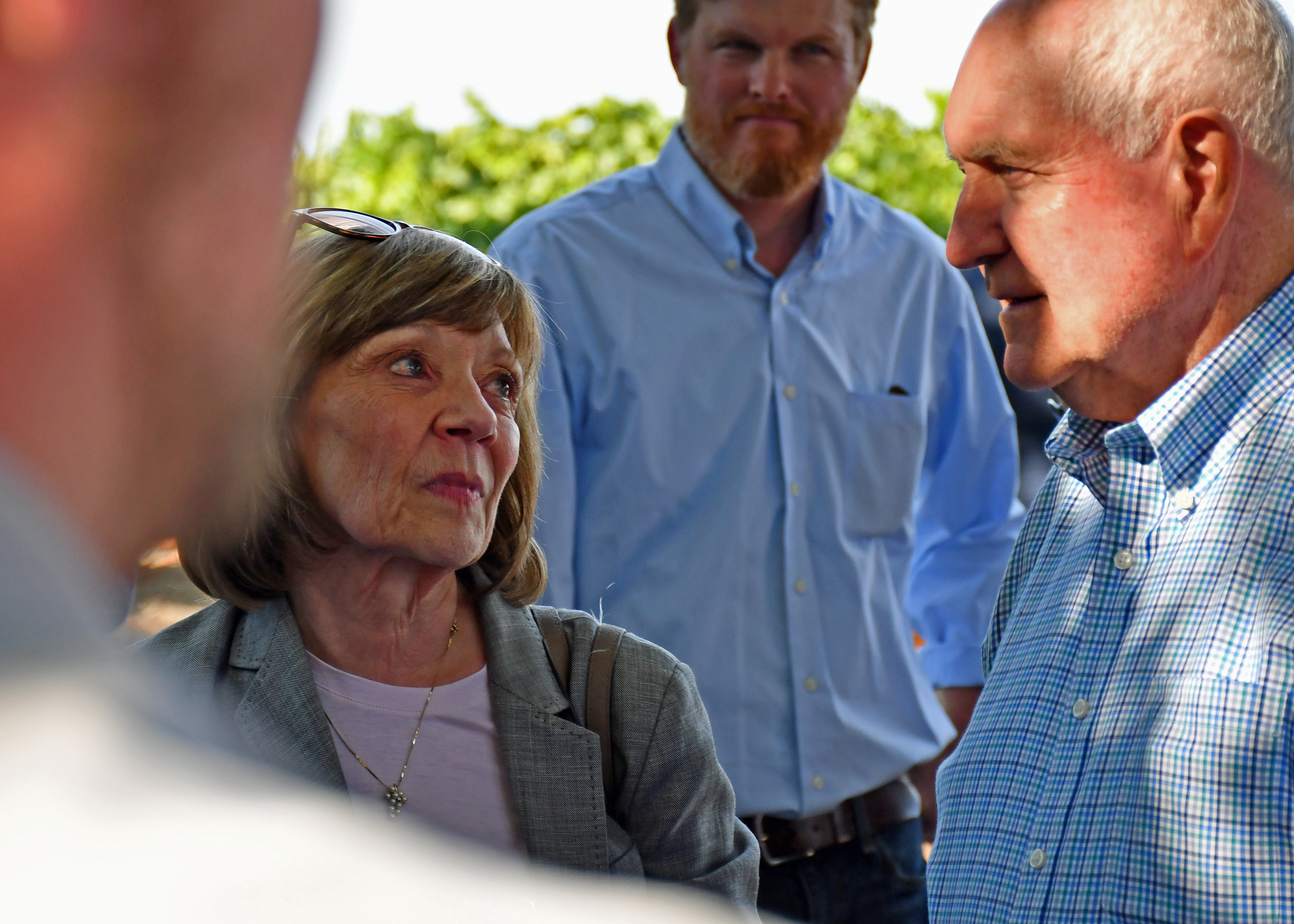 Karen Ross talks with Sonny Perdue
