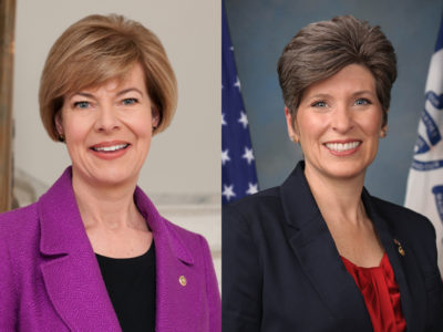 Tammy Baldwin and Joni Ernst