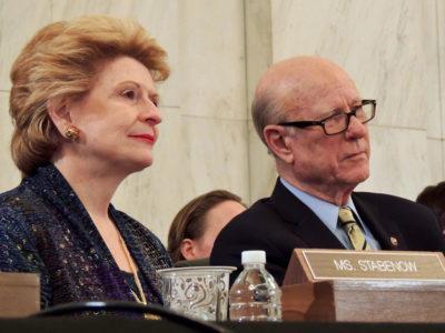 Sens. Debbie Stabenow and Pat Roberts