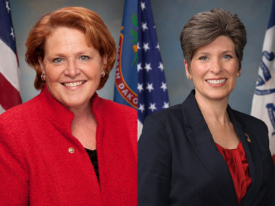 Heidi Heitkamp and Joni Ernst