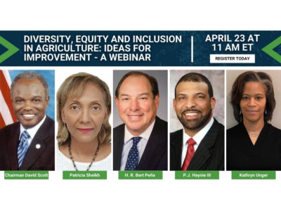 Diversity, equity and inclusion in agriculture: Ideas for improvement webinar images of speakers