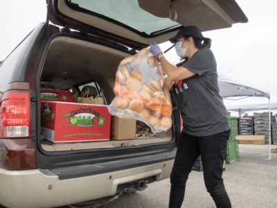 Loading food boxes during COVID USDA photo