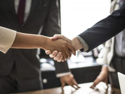 CEO handshake