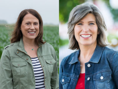 Theresa Greenfield and Joni Ernst
