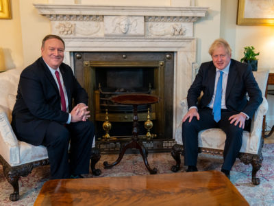 Mike Pompeo and Boris Johnson