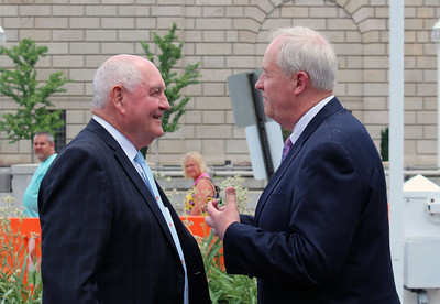 Michael Dykes and Sonny Perdue