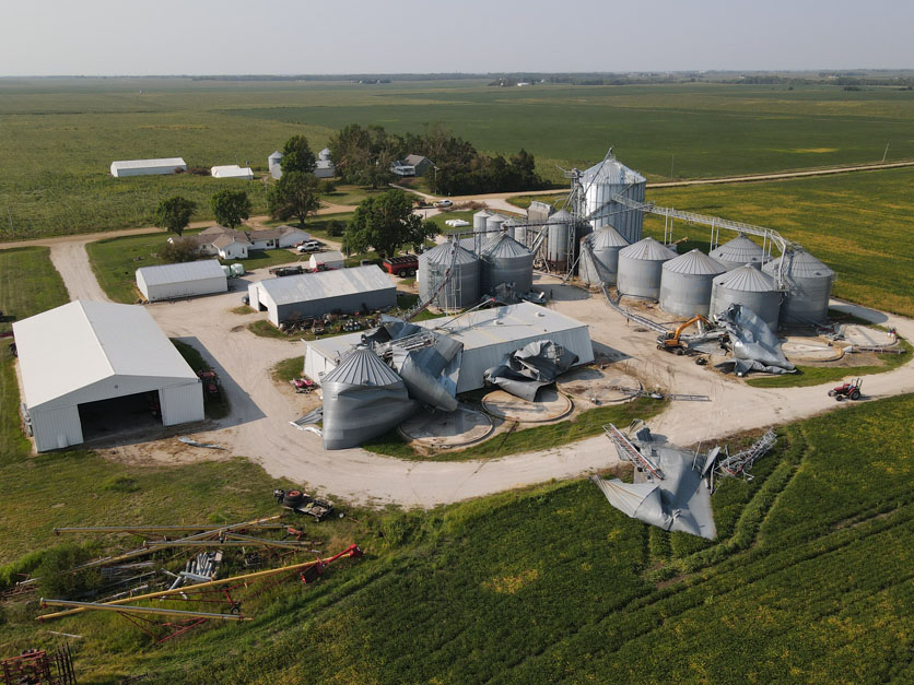 Ron Heck grain bins