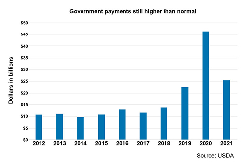 Government payment table