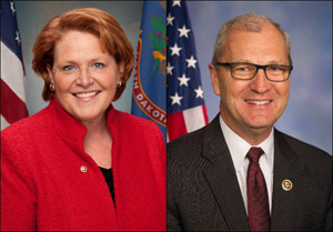 Heidi Heitkamp and Kevin Cramer