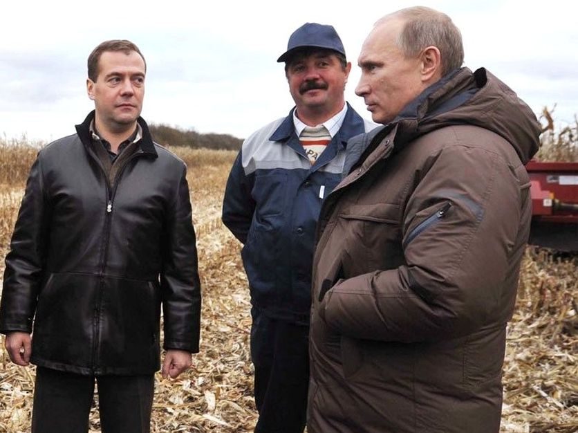 Putin on the farm