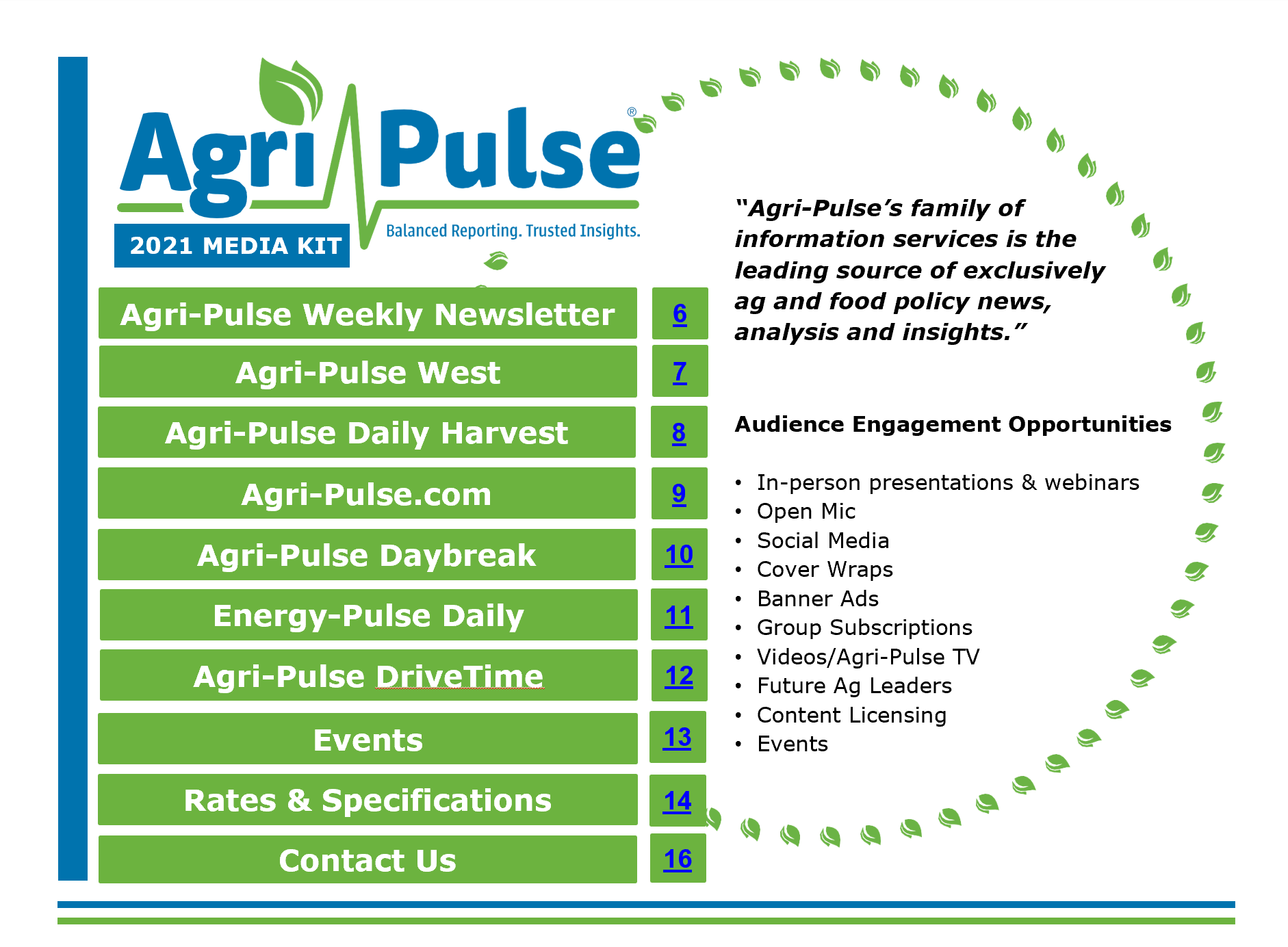 Agri-Pulse Media Kit 2020