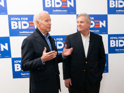 Joe Biden and Tom Vilsack