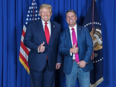 Ronny Jackson with Trump (campaign photo)