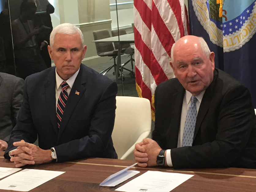 Sonny Perdue and Mike Pence