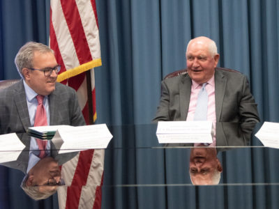 Sonny Perdue and Andrew Wheeler