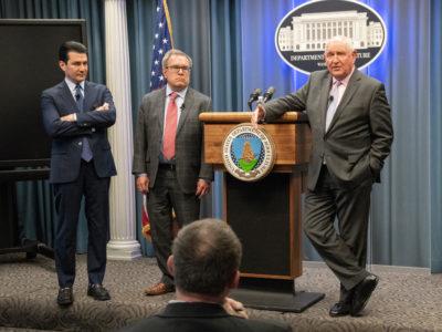 Sonny Perdue, Andrew Wheeler, and Scott Gottlieb