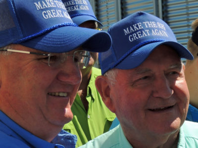 Sonny Perdue and Kevin Skunes