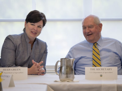 Ag Secretary Sonny Perdue and Chief of Staff Heidi Green