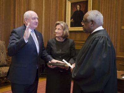 Sonny sworn in