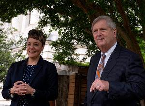 Tom Vilsack and Jewel Bronaugh