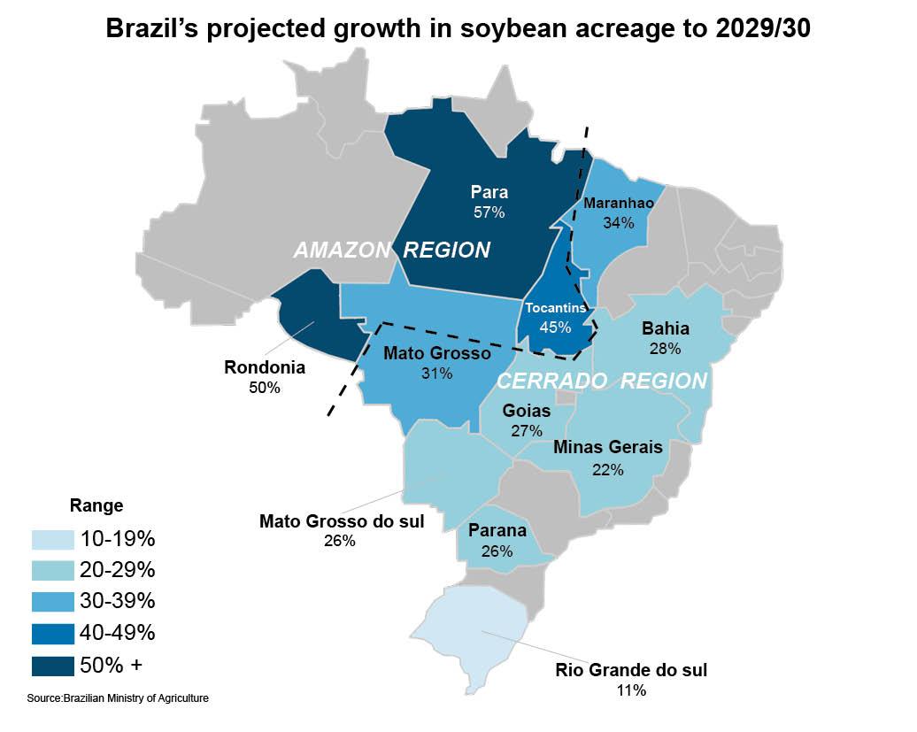 Brazil sustainability map