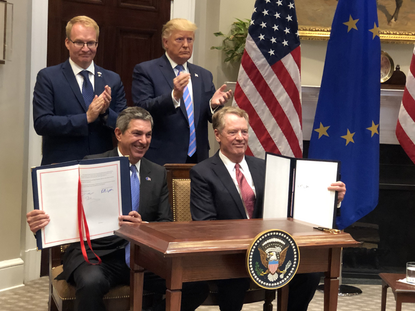 Trump and Lighthizer with EU deal