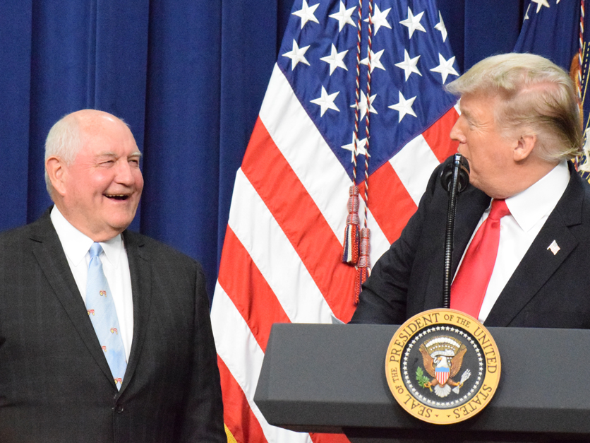 Donald Trump and Sonny Perdue