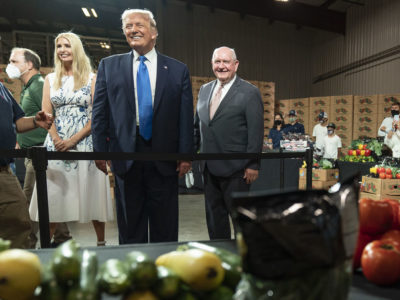 Donald Trump and Sonny Perdue in North Carolina