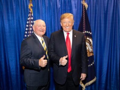 Trump and Perdue at FFA