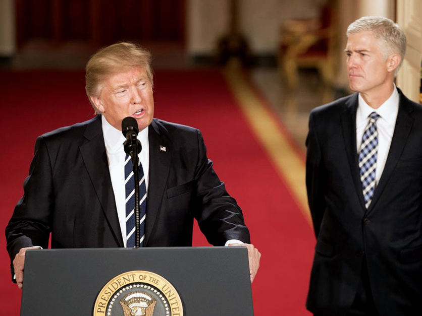 President Donald Trump and Supreme Court Justice Neil Gorsuch