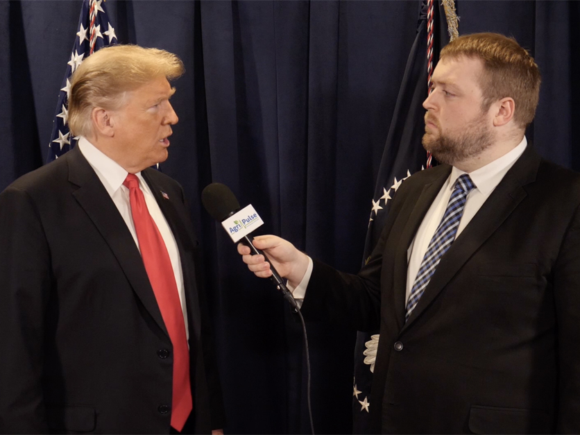 President Donald Trump and Spencer Chase