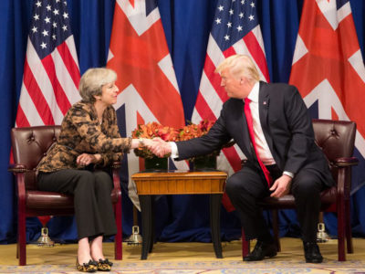 President Donald Trump and Prime Minister Theresa May