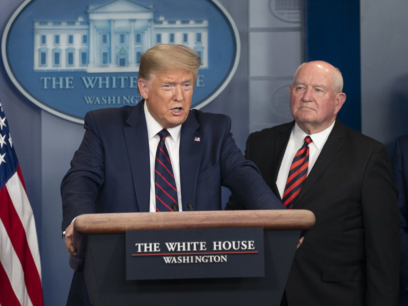 President Donald Trump and Secretary Sonny Perdue