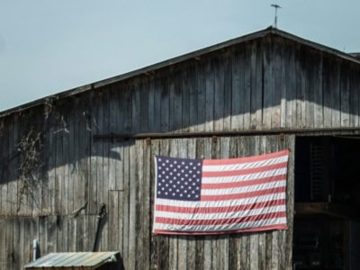 US Flag on Barn
