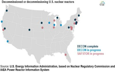 nuclear decommission map