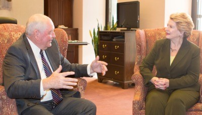 Perdue meets with Stabenow