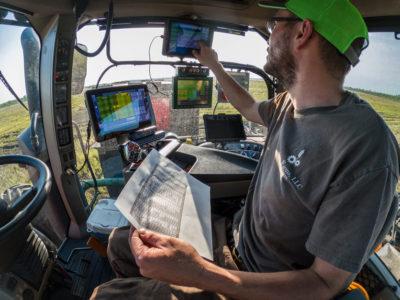 Tractor monitors