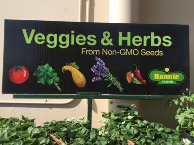 Non-GMO vegetables
