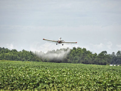 Crop dusting, or spraying