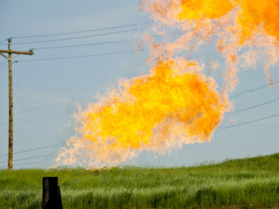Methane flaring