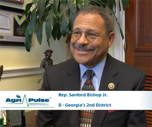 Feature: Georgia Democrat Sanford Bishop is currently serving in his 12th term in Washington, including time on chamber's agricultural authorization and appropriations committees. In this video, he talks with Agri-Pulse about how he sees agriculture's importance to Georgia's 2nd district.