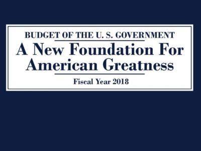Trump budget cover 2018