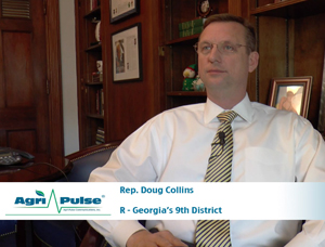 Feature: Georgia Republican Doug Collins is one of many lawmakers that has a good deal of agricultural activity in their district that doesn't serve in the House Agriculture Committee. In this video, he talks with Agri-Pulse about how he still represents his district's agricultural interests in Congress and why he made the jump from pastor to politician.