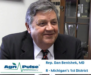 Dr. Dan Benishek of Michigan brings a medical approach to a variety of issues on Capitol Hill, and he discusses his priorities on agriculture, natural resources, and veterans affairs with Agri-Pulse's Spencer Chase.